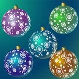 Reeks Kerstmis kleurrijke ballen Vector illustratie vector illustratie