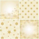 Reeks Kerstmisachtergronden met sneeuwvlokken. Royalty-vrije Stock Afbeelding