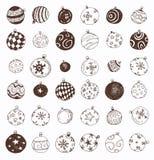 Reeks Kerstmisballen, vectorillustratie vector illustratie