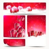 Reeks Kerstmisbanners Royalty-vrije Stock Afbeelding