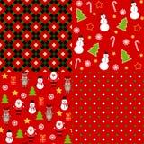 Reeks Kerstmispatronen Royalty-vrije Stock Afbeelding