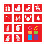 Reeks Kerstmistekens en symbolen Stock Afbeelding