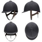 Reeks Klassieke helmen van Jockeyhorseride Stock Afbeelding