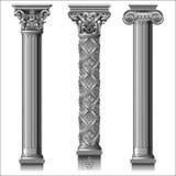 Reeks klassieke zilveren kolommen vector illustratie