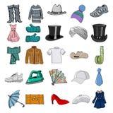 Reeks kleren Royalty-vrije Stock Afbeeldingen