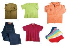 Reeks kleren van kleurenvrouwen Royalty-vrije Stock Afbeelding