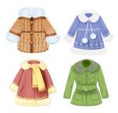 Reeks kleren voor kinderen Royalty-vrije Stock Afbeelding