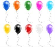 Reeks kleurenballons royalty-vrije illustratie