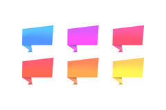 Reeks kleurenbanners Stock Foto's