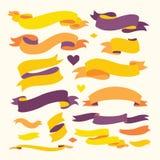Reeks Kleurenlinten voor Uw Tekst Stock Afbeeldingen