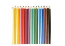 Reeks kleurenpotloden royalty-vrije stock foto