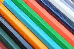 Reeks kleurenpotloden stock foto