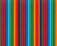 Reeks kleurenpotloden Stock Fotografie