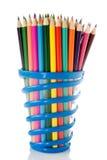 Reeks kleurenpotloden. Royalty-vrije Stock Foto's