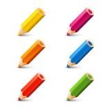 Reeks kleurenpotloden Royalty-vrije Stock Fotografie