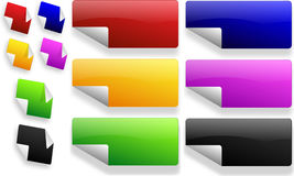 Reeks kleurenstickers Stock Afbeelding