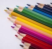 Reeks kleurpotloden Royalty-vrije Stock Foto's