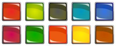 Reeks kleurrijke 3d knopen stock illustratie