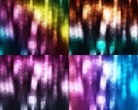 reeks kleurrijke abstracte achtergronden Stock Foto