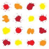 Reeks Kleurrijke Abstracte Dalingen Royalty-vrije Stock Fotografie