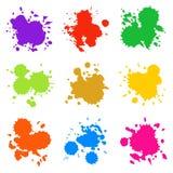 Reeks Kleurrijke Abstracte Dalingen Stock Foto