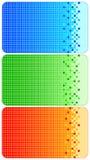 Reeks kleurrijke adreskaartjes Stock Afbeeldingen