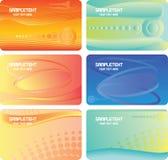 Reeks kleurrijke adreskaartjes Stock Foto's