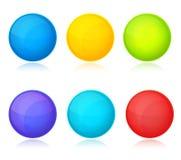Reeks kleurrijke ballen op witte achtergrond vector illustratie