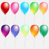 Reeks kleurrijke ballons vector illustratie