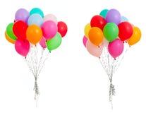 Reeks kleurrijke ballons die op wit wordt geïsoleerdo Stock Fotografie