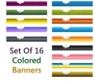 Reeks kleurrijke banners Stock Foto