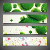 Reeks kleurrijke banners Royalty-vrije Stock Fotografie