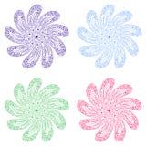Reeks kleurrijke bloemen Royalty-vrije Stock Afbeeldingen