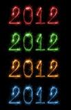 Reeks kleurrijke cijfers 2012 Stock Fotografie