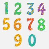 Reeks kleurrijke cijfers Stock Foto