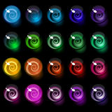 Reeks kleurrijke decoratieve suikergoedelementen. Stock Afbeeldingen