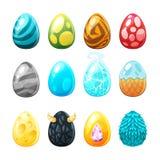 Reeks kleurrijke eieren stock illustratie