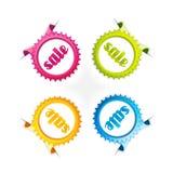 Reeks kleurrijke etiketten. Stock Fotografie