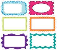 Reeks kleurrijke frames Royalty-vrije Stock Foto