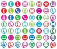 Reeks kleurrijke gadgetpictogrammen Stock Foto