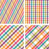 Reeks kleurrijke gestreepte naadloze patronen Royalty-vrije Stock Foto
