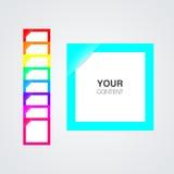 Reeks kleurrijke lege nota's voor uw beeld of tekst royalty-vrije illustratie