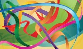 Reeks kleurrijke linten, banden, stroken, abstracte I Royalty-vrije Stock Afbeelding