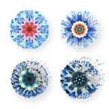 Reeks kleurrijke moleculaire vectorvormen, Stock Fotografie