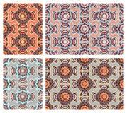 Reeks kleurrijke naadloze patronen in oosterse stijl stock illustratie