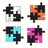Reeks kleurrijke raadsels Vector illustratie stock illustratie