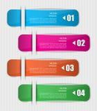 Reeks kleurrijke referenties, stickers. Stock Foto's
