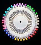 Reeks kleurrijke spelden Royalty-vrije Stock Afbeelding