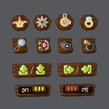 Reeks kleurrijke spelpictogrammen en elementen Royalty-vrije Stock Afbeelding