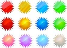 Reeks Kleurrijke Sterren Stock Foto